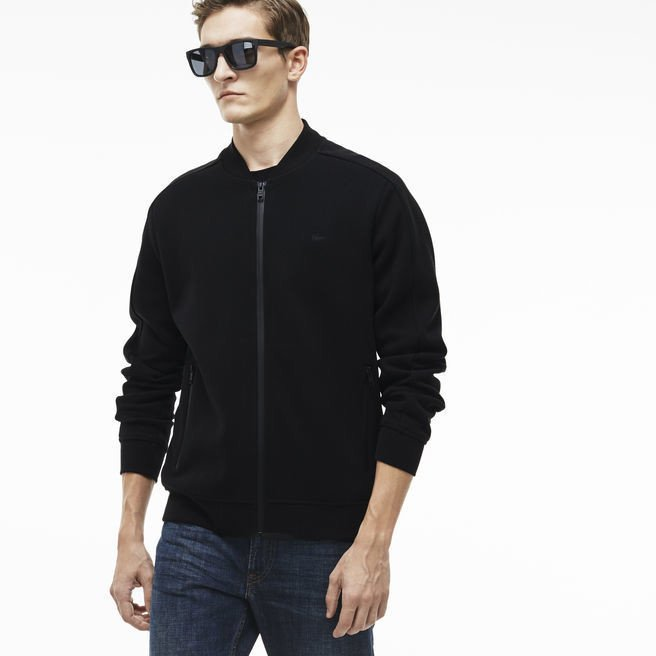 Aó khoác - Lacoste ZIPPERED SWEATSHIRT IN TECHNICAL PIQUÉ WITH CONTRASTING DETAILS