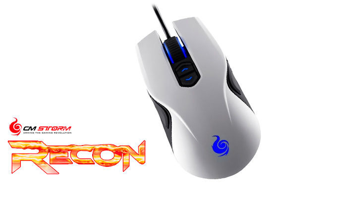 Mouse Cooler Master Storm Recon White Gaming