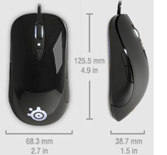 Mouse SteelSeries Sensei RAW Glossy Black (62154)
