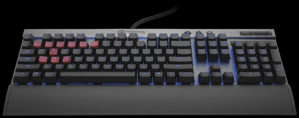 Keyboard Corsair Vengeance® K70 Fully Mechanical Gaming Keyboard - Natural Silver - Cherry MX Blue