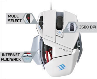 Mouse Madcatz R.A.T 3 White
