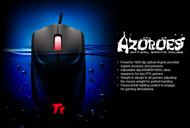 Mouse Thermaltake Ttesports AZURUES Gaming