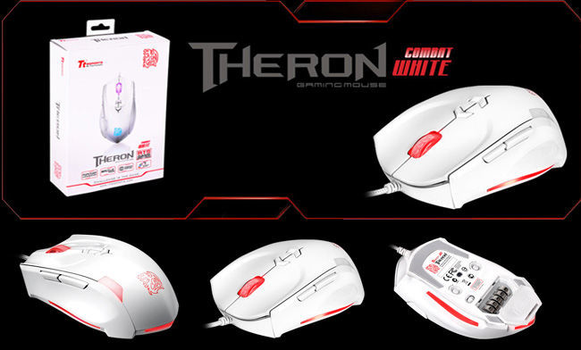 Mouse Thermaltake TTeSports Theron Combat White