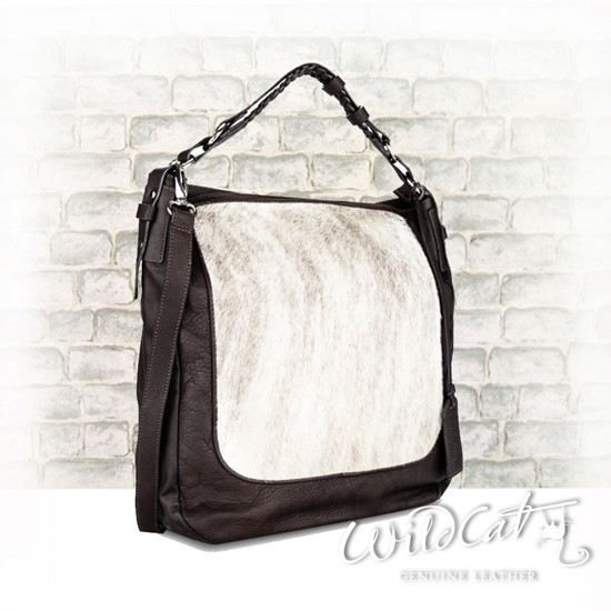 10532014 - COW HAIR LEATHER JEAN Bag with Exotic trims