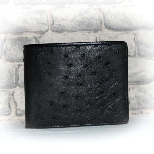 W OSTRICH LEATHER WALLET M Size