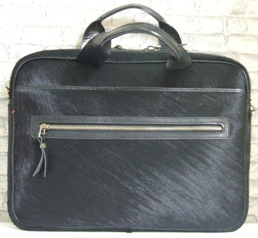 W ITALIAN COW HAIR LEATHER Laptop bag