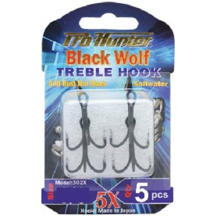 Prohunter Black Wolf Treble Hook 5X ( Lưỡi Popper )