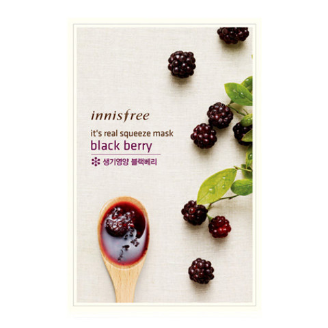 Mặt Nạ Innisfree Its real squeeze Mask Black Berry