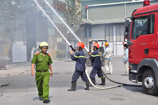Fire protection training for staff
