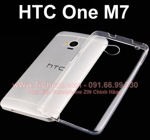 Ốp lưng HTC One M7 Silicon Dẻo trong suốt