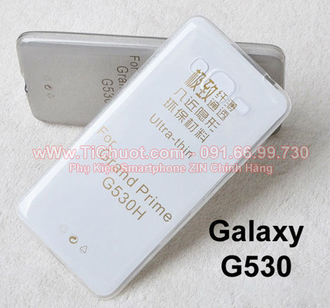 Ốp lưng Galaxy Grand Prime G530 Silicon Dẻo trong suốt