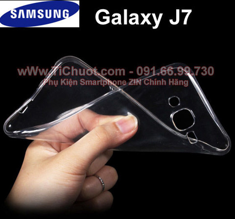 Ốp lưng Galaxy J7 Silicon Dẻo trong suốt