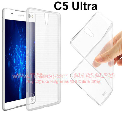 Ốp lưng Xperia C5 Ultra Silicon Dẻo trong suốt