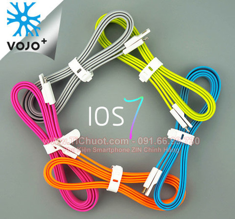Cáp Dẻo VOJO Lightning iTrim 2 cho iPhone 7/6s/6Plus/5s - iPad Air/Mini