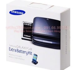 Extra Battery Kit Galaxy S3, Grand (Dock+Pin) ZIN Chính Hãng