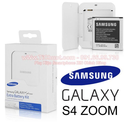 Extra Battery Kit Galaxy S4 Zoom (Combo Pin+Dock) ZIN Chính Hãng