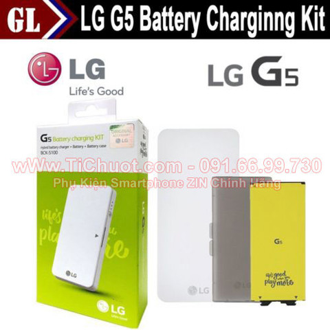 Combo Pin+Dock LG G5 BCK-5100 ZIN-Battery Charging Kit