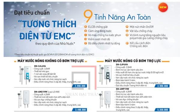 Catalogue máy nước nóng trực tiếp Panasonic