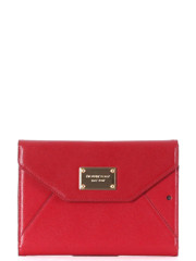 Michael Kors Saffiano Leather iPad Mini Tablet Clutch Red