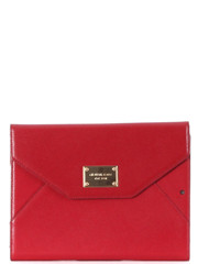 Michael Kors Saffiano Leather iPad Air Tablet Clutch Red