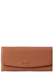 Monsac Continental Leather Wallet Brown