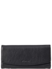 Monsac Continental Leather Wallet Black