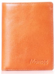 Monsac Grainy Wallet Men Nâu Vàng