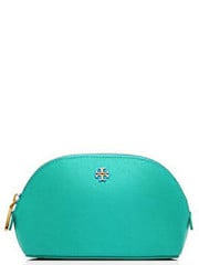 Tory Burch York Small Makeup Bag Light Blue