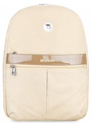Mikkor Editor Backpack (M) Brown Cream