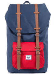 Herschel Little America Backpack Navy/Red/Tan Synthetic Leather