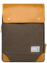 Venque Flatsquare Backpack Mini (M) Brown