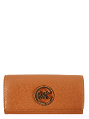 Michael Kors Fulton Leather Carryall Wallet Brown