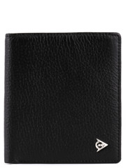 Dunlop Natural Cowhide Halffold Wallet Black