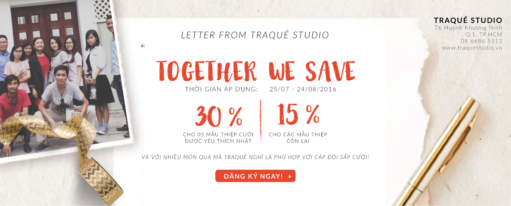 TOGETHER WE SAVE – Up to 30% for wedding paper
