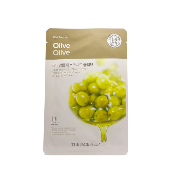 THEFACESHOP-Real Nature Mask Olive (Mặt nạ Olive)