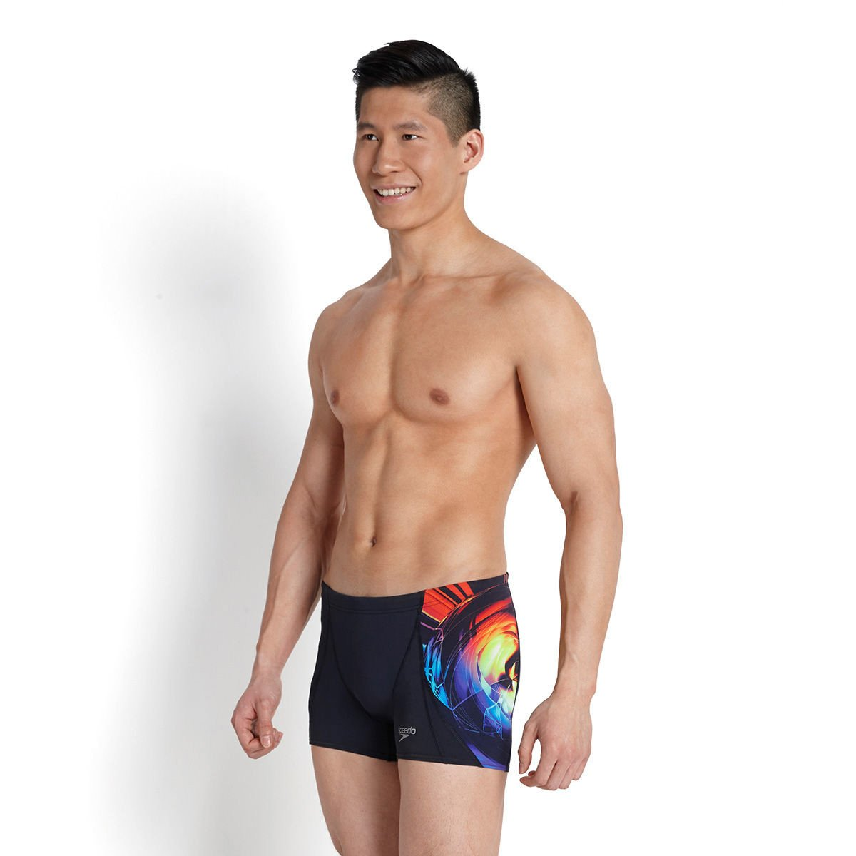 Speedo - Quần Bơi Nam Endurance+ Digital Placement V Panel Aquashort Navy/Purple