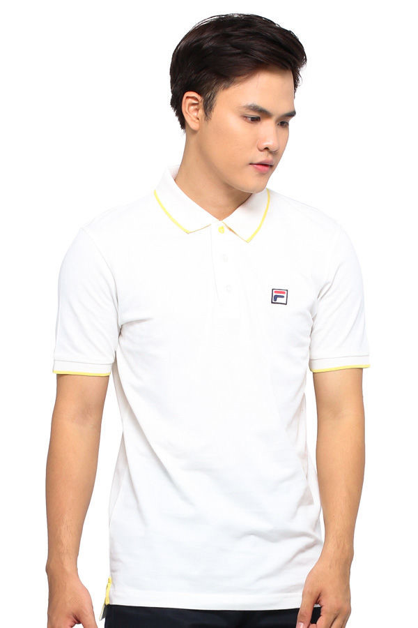 FILA APPAREL Men Shenzhen SS15 FLPOLO15-01-WHT White