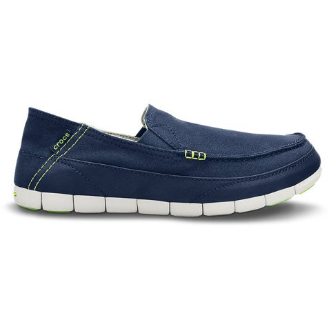 Crocs - Giày Lười Nam Stretch Sole Loafer Navy/Pearl White (Xanh Navy)