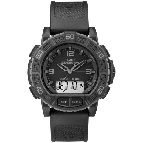 Timex - Đồng Hồ Thể Thao Nam Dây Cao Su TW4B00800 Expedition® Double Shock (Đen)