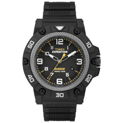 Timex - Đồng Hồ Thể Thao Nam Dây Cao Su TW4B01000 Expedition® Field Shock (Đen)