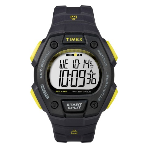 Timex - Đồng Hồ Thể Thao Nam Dây Cao Su TW5K86100 IRONMAN® Classic 50 Full-Size (Đen)