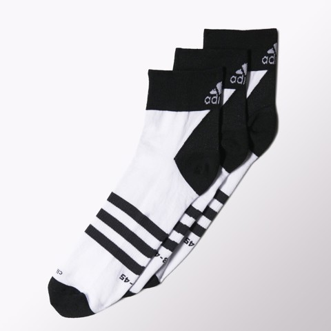 Adidas - VỚ thể thao   Climalite Thin Ankle Socks 3 Pairs S24617 (Đen trắng)