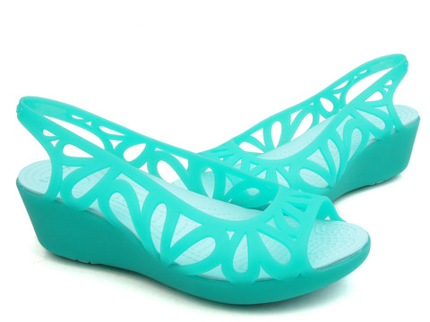 Crocs - Adrina III Mini Guốc Wedge W Tropical Teal/Ice Blue Nữ