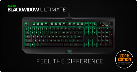 Razer BlackWidow Ultimate Stealth 2016 - Orange SW