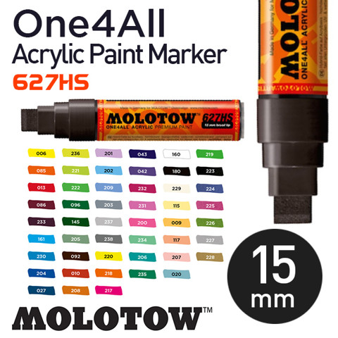 Bút marker Molotow One4All Acrylic Paint, nét 15 mm