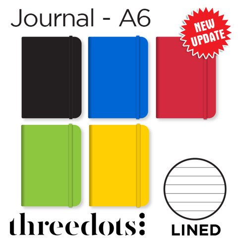 Sổ Threedots, khổ A6, lined