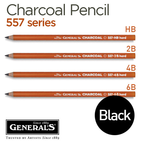 Chì charcoal đen General's 557 series