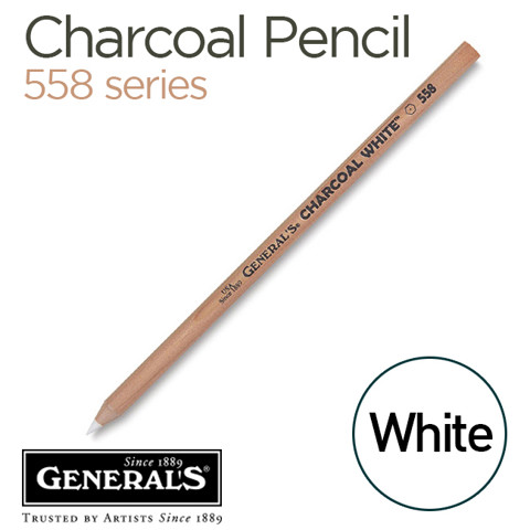 Chì charcoal trắng General's 558 series