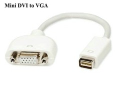 Đầu chuyển đổi Mini DVI to VGA cho Macbook Pro, Macbook Air, iMac, Mac mini...
