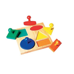 Ghép 5 hình học<br>5 shape peg board with large knobs